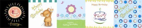 """50 Folded Mini 2.75"""" x 2.75"""" Designer Quality """"Happy Birthday"""" Greeting Cards (Perfect as Gift Tags or Notes) in 5 Different Designs (WHOLESALE) by Carduta. $13.75. This card package includes 5 different packs of 10 mini greeting cards. The cards are 2.75 inches by 2.75 inches and come with an envelope. These mini cards are perfect as gift tag or note card with gift. The inside of the cards are blank and individually packed. Each design is individually created by graphi..."""