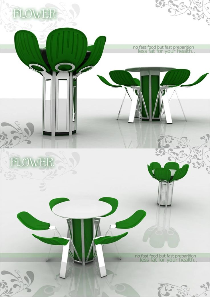 Flower Bloom conceptual furniture design by Fatih Can Sarıöz, an industrial product designer from Istanbul, Turkey