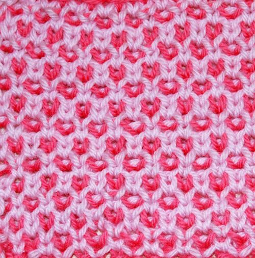 Checked rose fabric.