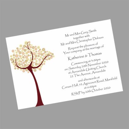 These Tree of Love wedding invitations would suit anyone organizing a wedding on a budget. www.kardella.com
