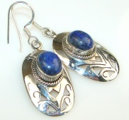 Intense Blue Lapis Lazuli Sterling Silver earrings