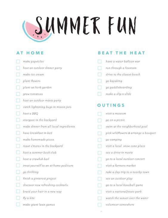 Summer Fun Bucket List- great ideas to squeeze all the fun you can out of summer. #summerfun #summerfuntime #summerideas