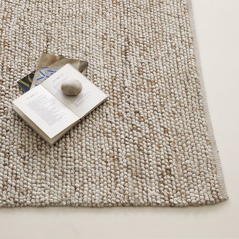 Mini Pebble Wool Jute Rug | west elm  Another rug option....this will soften your room up quite a bit...lots of texture (again 8x10)