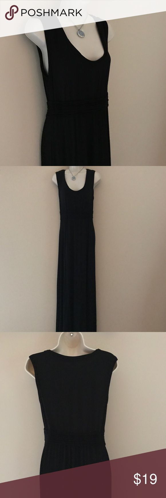 "Flattering Maxi Dress NWOT. Deep scoop neck and empire waist. Flattering ruching along waist. Double hem detail. Measures 60"" shoulder to hem and 18"" across chest (without stretch). Bundle and save! Smoke free home. Sophie Max Dresses Maxi"