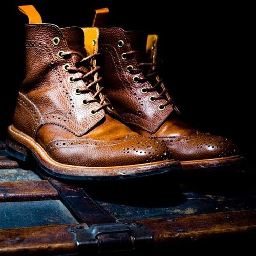 """""""Things look better lived in"""" -Ouigi Theodore BKc X Tricker's First Edition Brogue Boots.."""