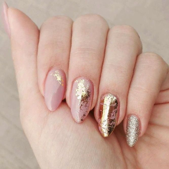 Wedding Guest Nails Weddingnailideas Gold Nail Designs Gold Nail Art Foil Nail Art
