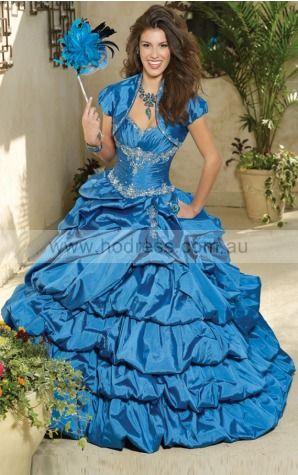 Lace-up Floor-length Natural Ball Gown Taffeta Formal Dresses afka307029--Hodress