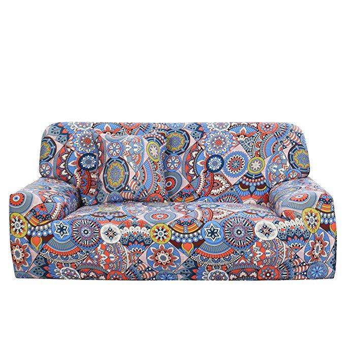 Uxcell Stretch Sofa Cover Couch Cover 2 Seater Polyester Spandex