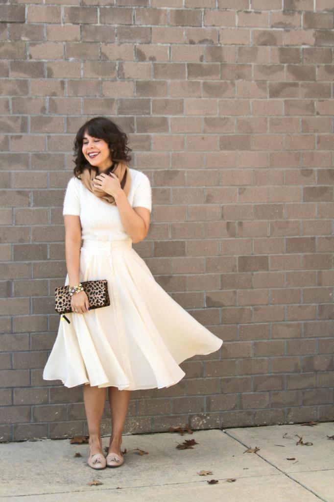 Full white skirt - madewell