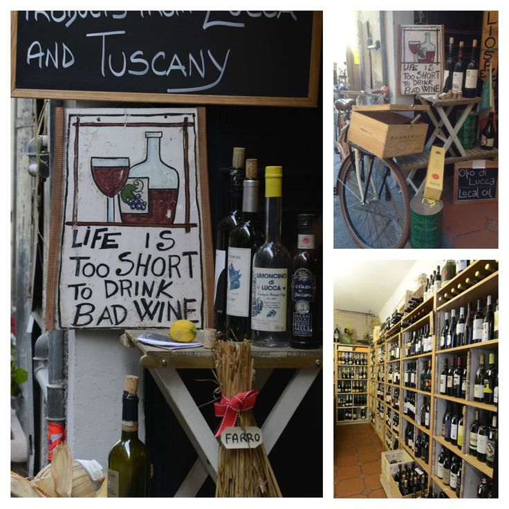 You must visit the BEST Wine and olive oil shop in Lucca Tuscany! Local products from small producers. Via Santa Croce 79 - Lucca.