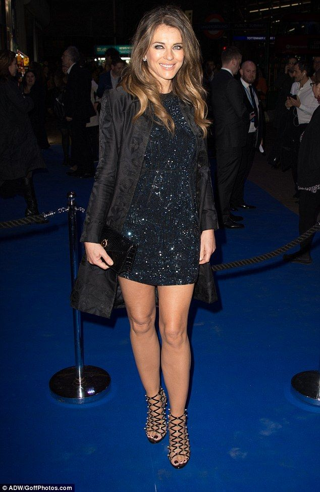 All that glitters: Elizabeth Hurley, 51, looked as stunning as always as she made her glam...