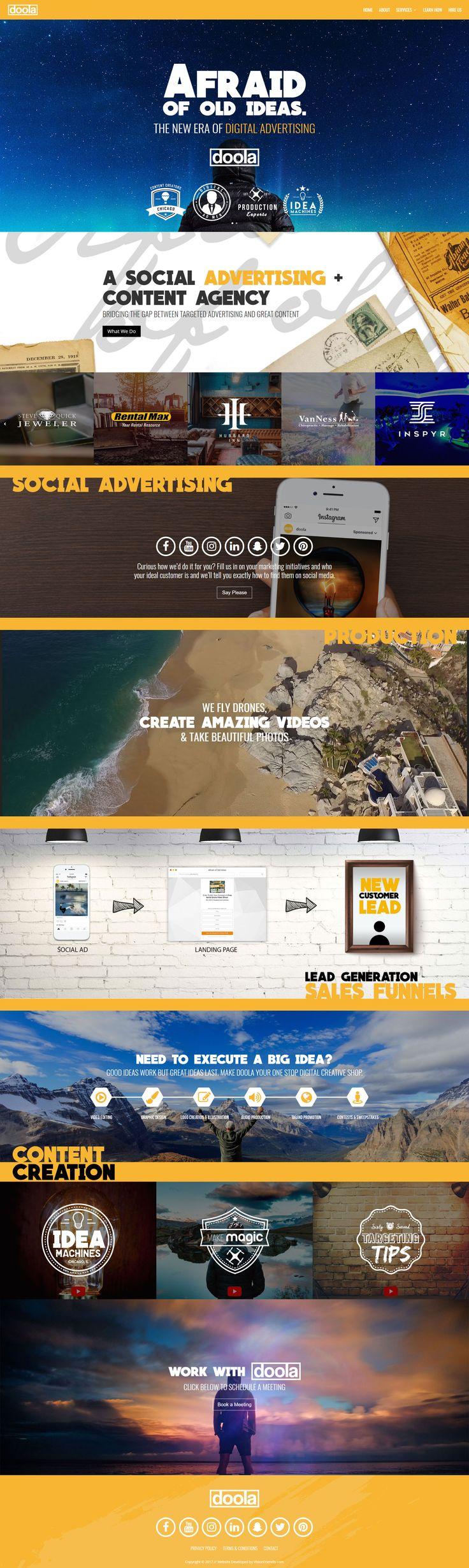 Website for Doola.biz by VisionFriendly.com!  #responsivedesign #responsive #strategy #marketing #digitalpresence #digitalmarketing #customdesign #webdesign #webdevelopment #dynamic #fullscreen #fullwidth #modern #blue #yellow #layered