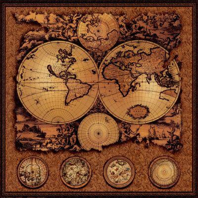 Antique Map, Cartographica III Print                                                                                                                                                                                 More