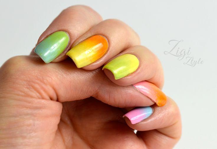 ZigiZtyle: Skittle Gradient Nails / Liukuvärjätyt kynnet