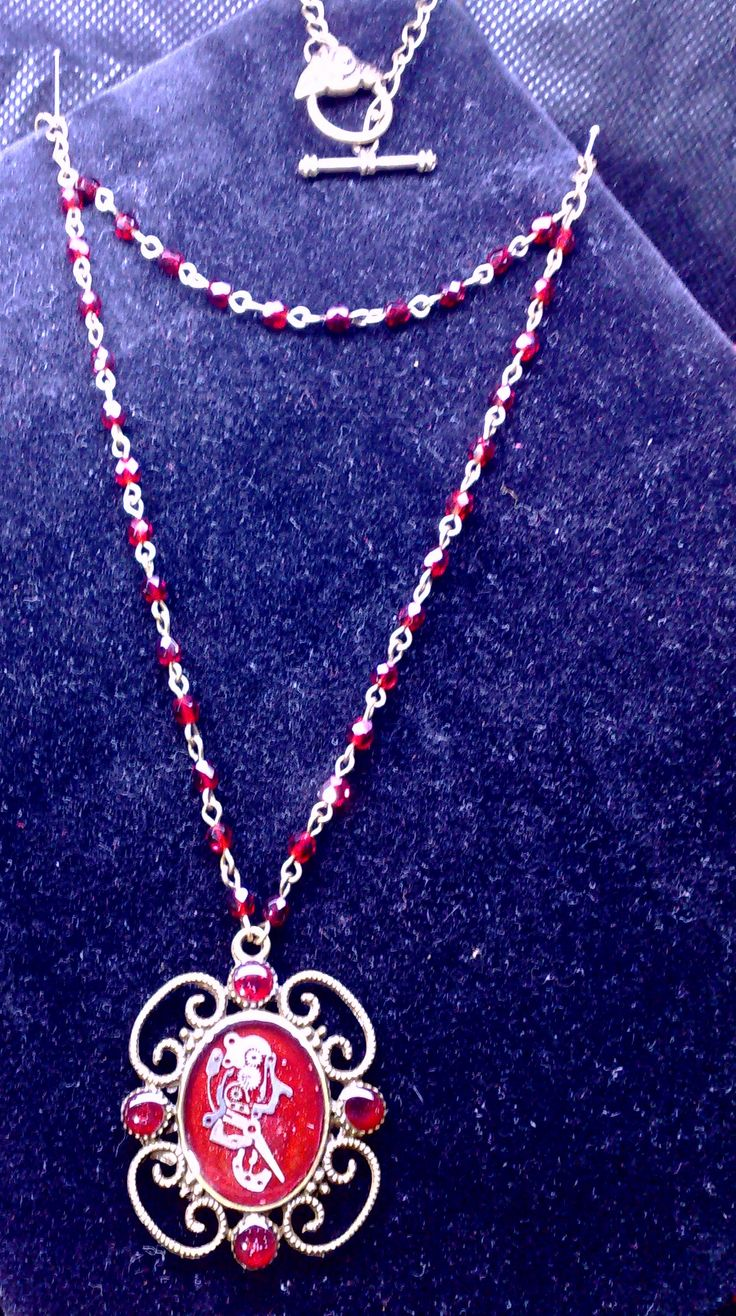 Necklace steampunk resin