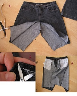 Going to try this ~ makes a skirt from your old jeans