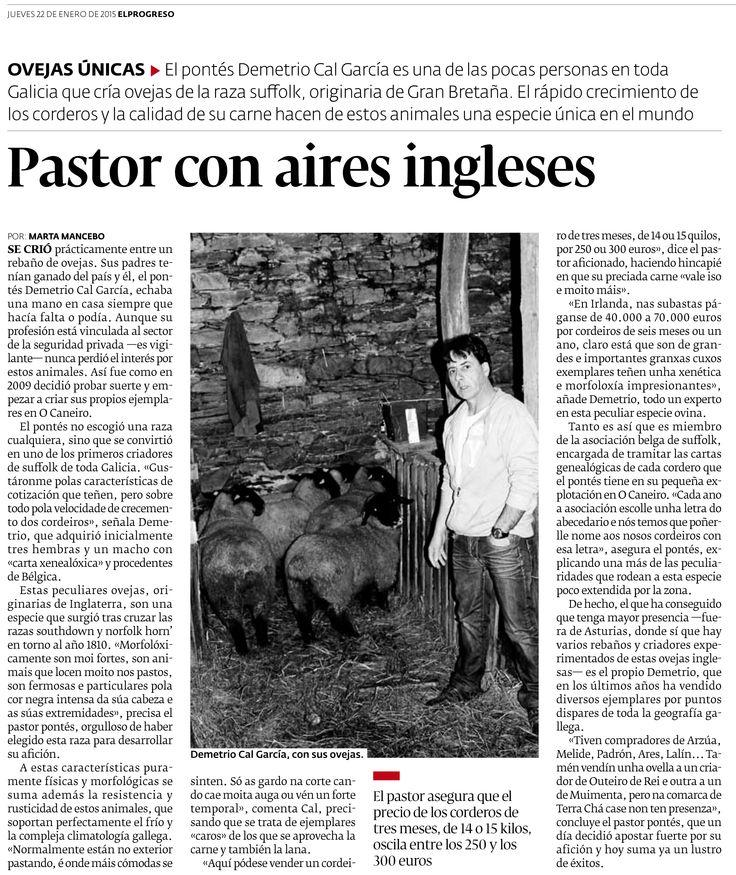 Según publica El Progreso, un pastor gallego elige la raza suffolk para su explotación http://www.eblex.es/noticias.php?op=vernot&id_not=81 #gastronomía #cordero