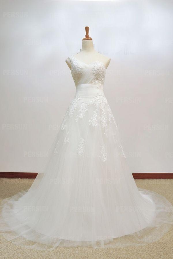 Applicazioni #Monospalla #Laccetti #Vestiti Da #Sposa #Lunghi ed #Eleganti - Persunit.com
