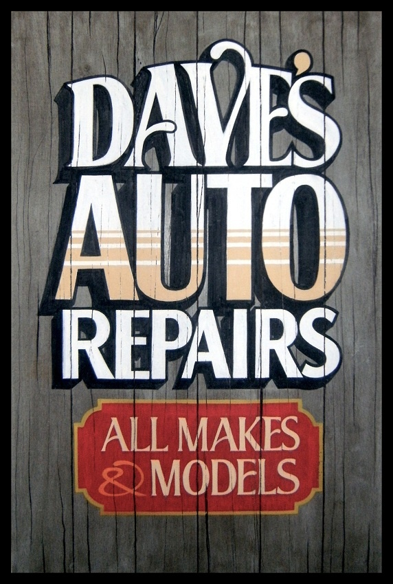 Old Auto Signs : Best images about old school sign painting on