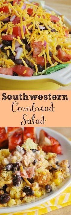 Southwestern Cornbread Salad - this layered salad will be the star of your table!