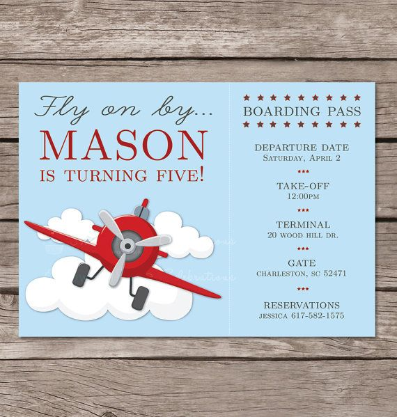 Hey, I found this really awesome Etsy listing at https://www.etsy.com/listing/197944790/airplane-birthday-invitation-printable