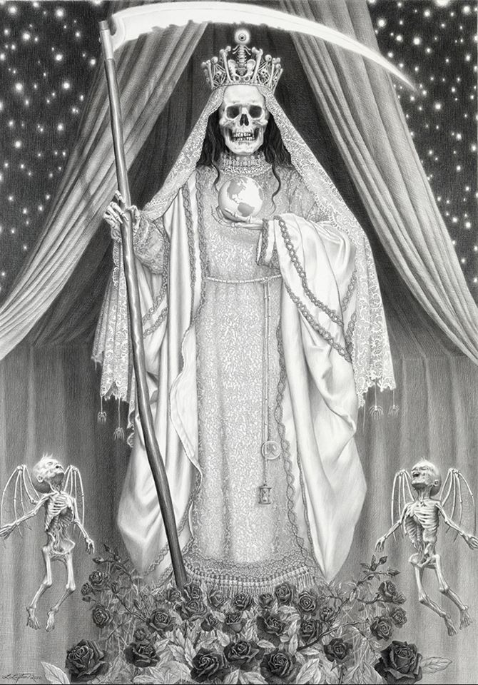 Santa Muerte. by Laurie Lipton                                                                                                                                                                                 More
