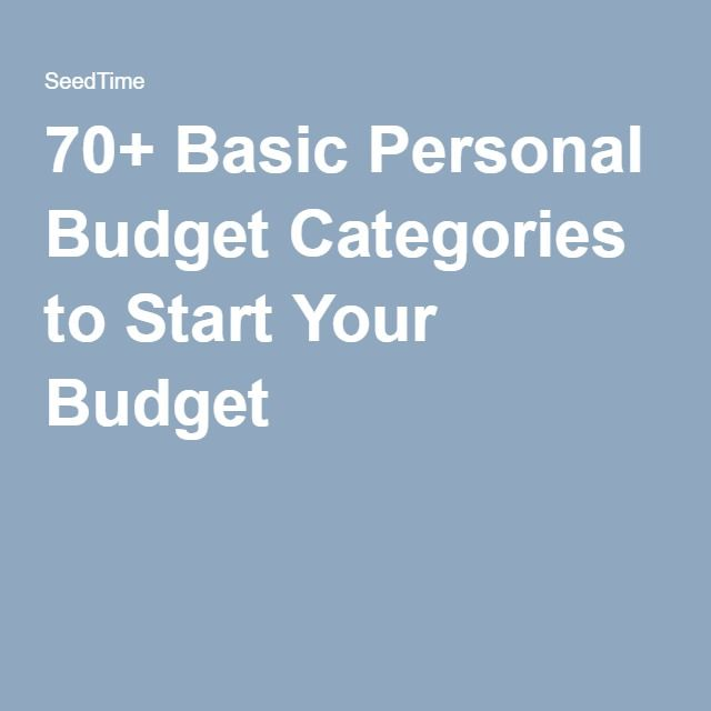 basic budget categories - Baskanidai