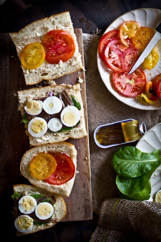Pan Bagnat (Tuna Nicoise Sandwich) | Tuna, Sandwiches and Pan Bagnat