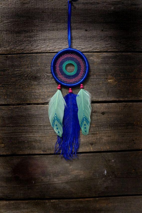 Dream catcher / blue dream catcher / mini by MyFantasticDreams