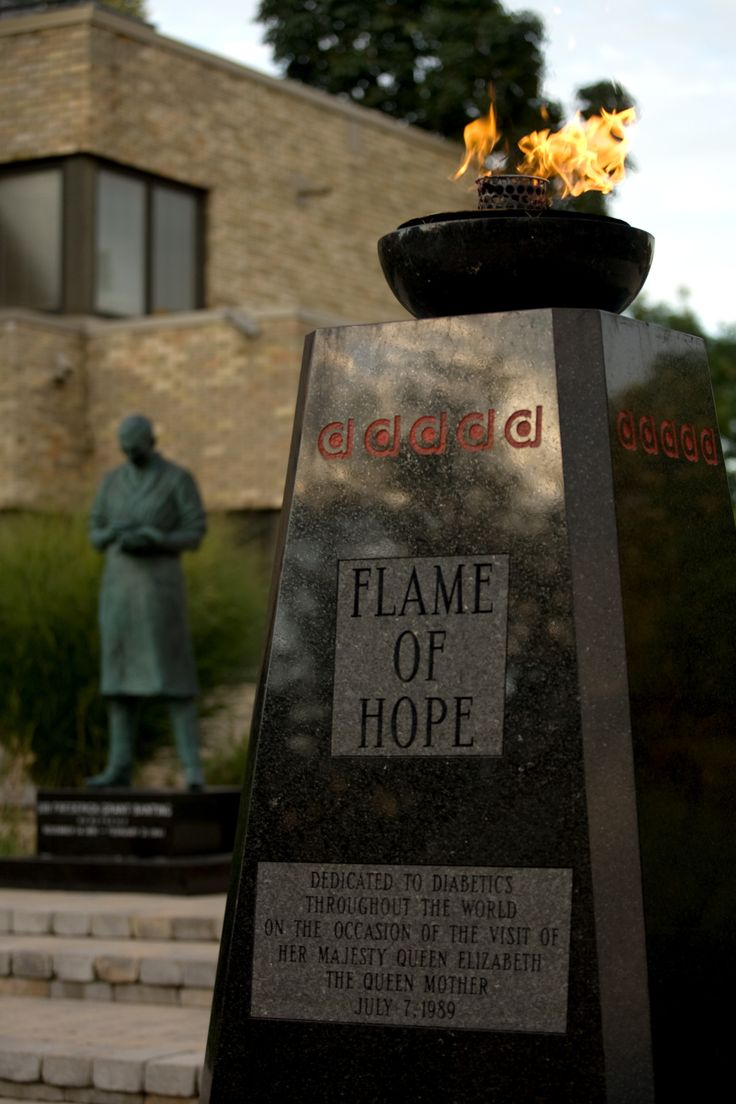 "gotthsugar: "" The Flame of Hope is an eternal flame that honors Sir Frederick Banting's discovery of insulin, as well as all those who have been affected by diabetes. Simultaneously, it serves as a reminder that insulin controls diabetes but does not..."