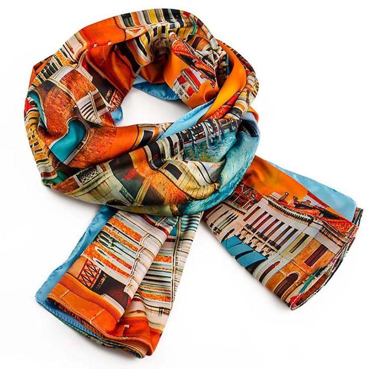 Šála 69fxu011-11.02 - oranžová - Bijoux Me!
