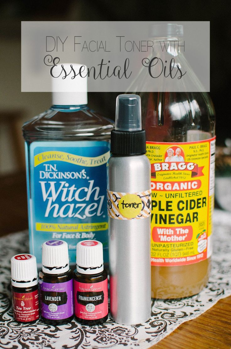 DIY Facial Toner with Essential Oils.