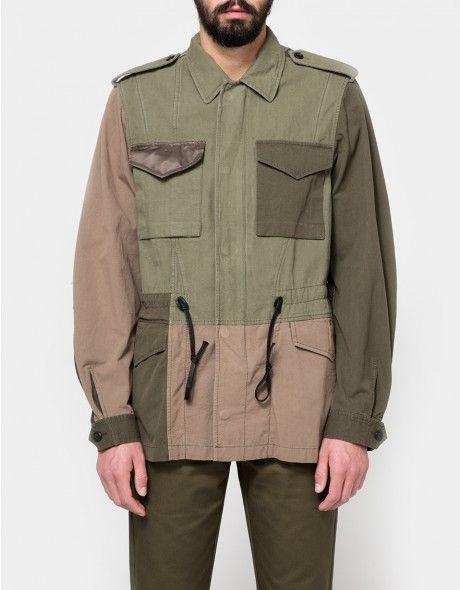 Mixed Canvas Patchwork Field Jacket