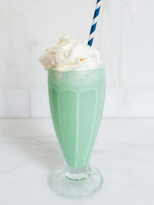 This beautiful mint milkshake. | The 19 Most Important Foods Of 2014, According To Tumblr