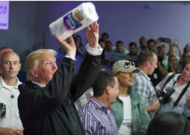 """He tossed rolls of paper towels at the crowd like free T-shirts at a basketball game, for starters.  """"The job that's been done here is really nothing short of a miracle,"""" Donald Trump said early Tuesday during his trip to hurricane-ravaged Puerto Rico. Coming from someone else, those words might have meant something. But from this president, it was just more empty babble meant to distract the world from noticing how poorly his administration has handled a crisis."""