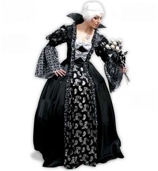 Das edle Halloween Kostüm für Damen. Zeitlos schön, ein bisserl verrucht und daher auch gut an Fasching und Karneval einsetzbar.