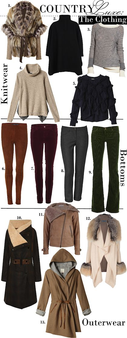 Country Luxe Clothing - for my dreams of hunkering down in a cabin in the woods during the winter.