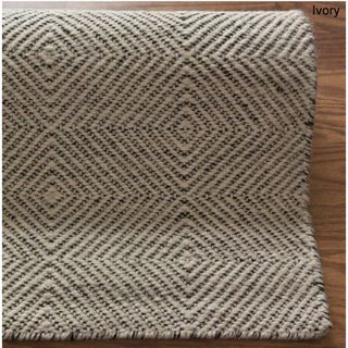 NuLOOM Handmade Concentric Diamond Trellis Wool Cotton Rug By Nuloom Grey Living RoomsLiving Room