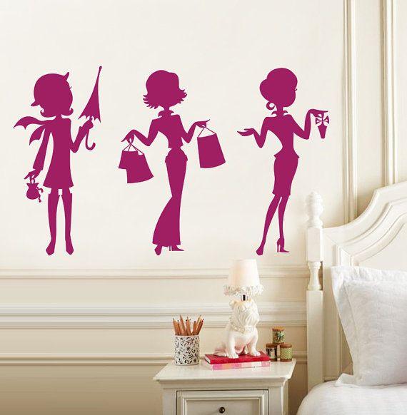 Hhhmmm? Addie wants fashion.  Teen Girl Wall Decal  Fashion Wall Decals  Chic by DecalSisters, $35.00