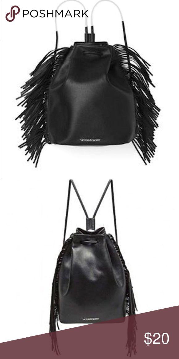 Victoria's Secret fashion show fridge bag Limited edition VS fashion show black fringe bag Victoria's Secret Bags