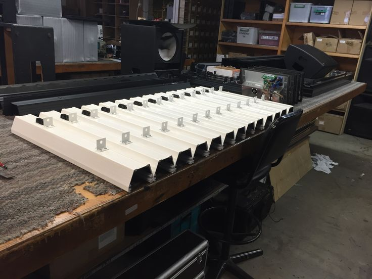In addition to wood cabinets, a line of ALA (Architectural Line Array) speakers are made here and available in custom lengths, custom colours all made from our custom extrusion. Beautifully efficient and effective. #professionalsound #madeinaustralia wwlatprofessional.com.au