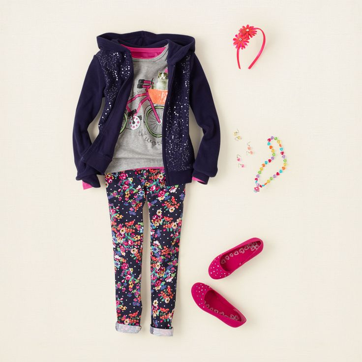 girl - outfits - jolly jeggings - flower power | Children's Clothing | Kids Clothes | The Children's Place