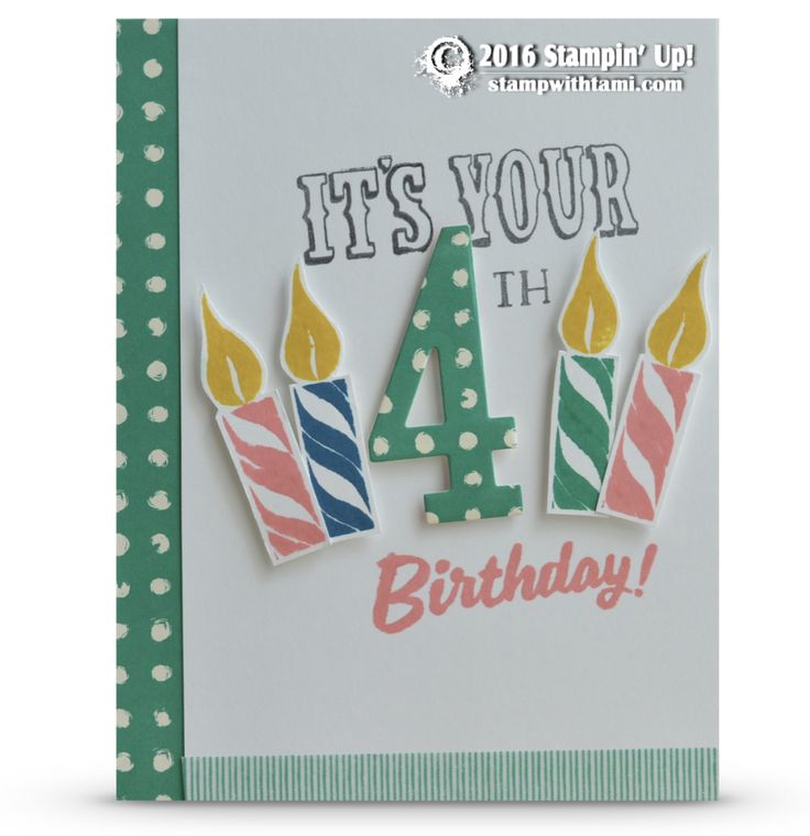 CARD: It's Your Birthday – Number of Years Card (Stamp With Tami)
