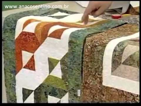 ▶ Patchwork Ana Cosentino: Centro de Mesa Batik (Programa Arte Brasil 28/02/2013) - YouTube