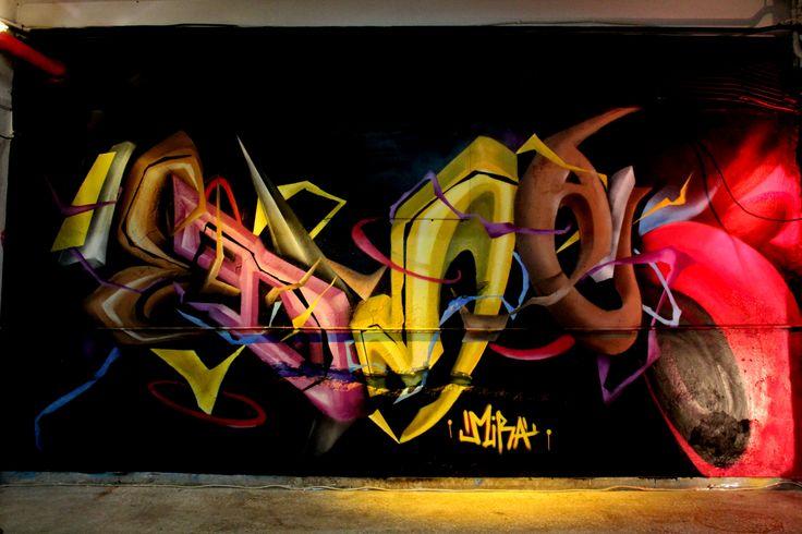 MDMA mural/ Spray paint