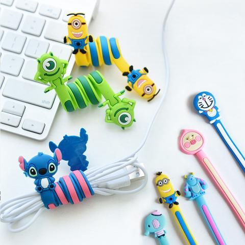 Korea Fashion Cord Winder- Adorable Character Silicone Winding Cable Tool