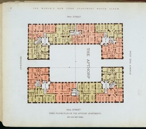 hird floor plan of the Apthorp Apartments. Stephen A. Schwarzman Building / Irma and Paul Milstein Division of United States History, Local History and Genealogy.: Milstein Division, Floors Plans, Local History, Apthorp Apartment, Schwarzman Building, Floor Plans, States, Paul Milstein, Third Floors