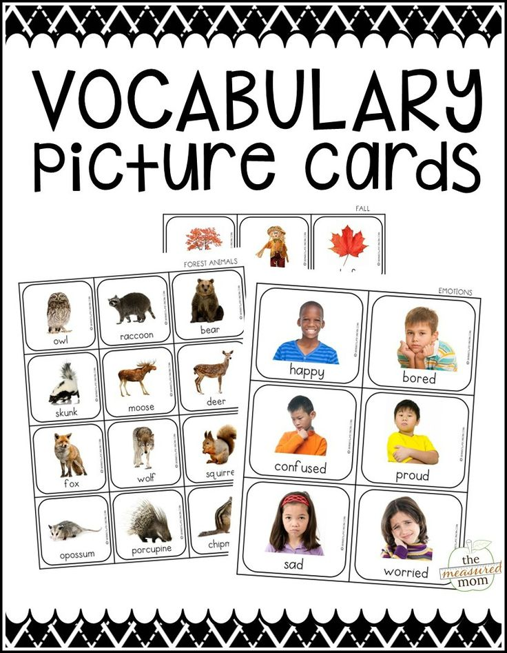 Find 10 fun vocabulary activities that you can try with our set of 500 vocabulary picture cards!
