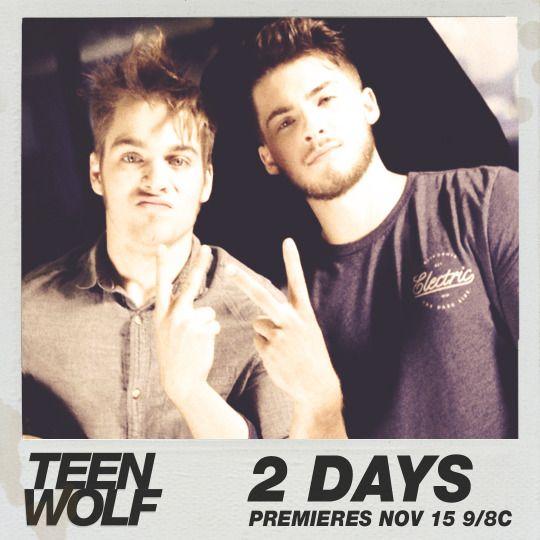 Teen Wolf - Season 6 - 2 days - me and my bestie on premiere night.