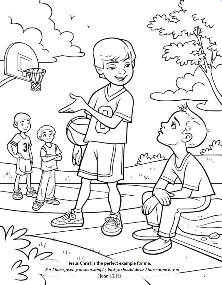coloring pages acts of kindness - lds games color time friends church pinterest colors places and friends